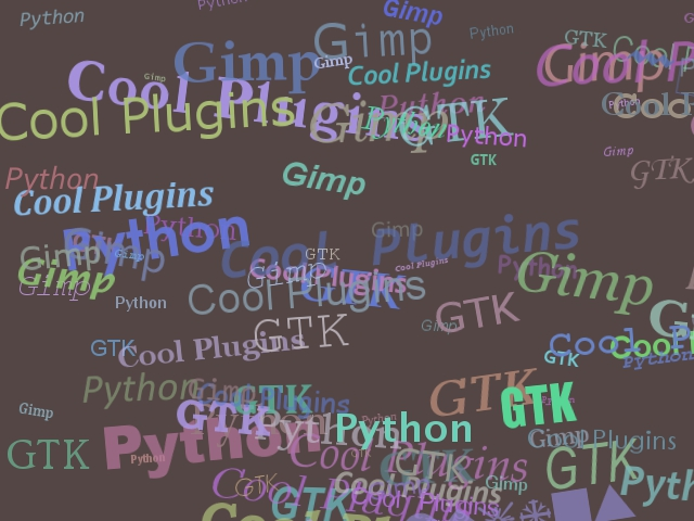 B p word art gimp plugin registry